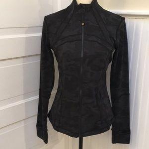 Lululemon define jacket black and gray camo